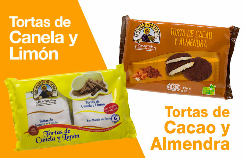 TORTAS CANELA Y LIMÓN, TORTAS DE CACAO Y ALMENDRA