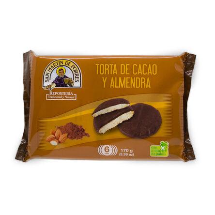 Tortas de cacao y almendra. Pack de 6 uds.